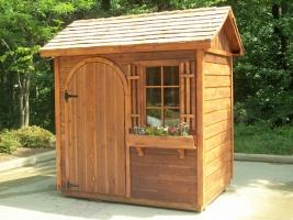 Деревянный сарай-домик.  Отделка - имитация бруса, вагонка-штиль, планкен.