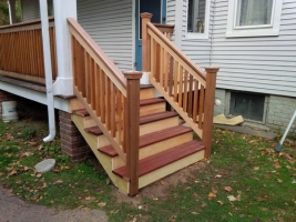 Cedar-Mahogany-Porch-Stairs-Exterior-Wooden-Staircase-traditional-porch-design