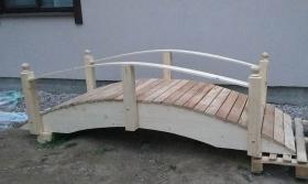 Садовый мостик, лиственница