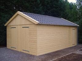 Деревянный гараж, модель 1