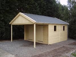 Деревянный гараж, модель 4