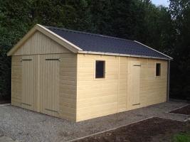 Деревянный гараж, модель 8