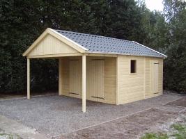 Деревянный гараж, модель 7