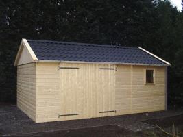 Деревянный гараж, модель 5