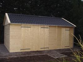 Деревянный гараж, модель 6
