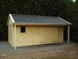 Деревянный гараж, модель 12