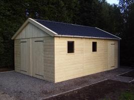 Деревянный гараж, модель 9