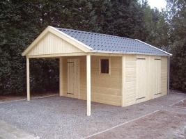 Деревянный гараж, модель 3