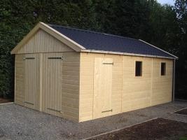 Деревянный гараж, модель 10