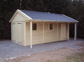 Деревянный гараж, модель 11
